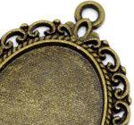 medalion oval vintage, cu poza